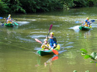 Najac - canoeing on the Aveyron