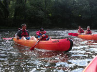 Kayaking on the Aveyron at Saint Antonin, for all the family